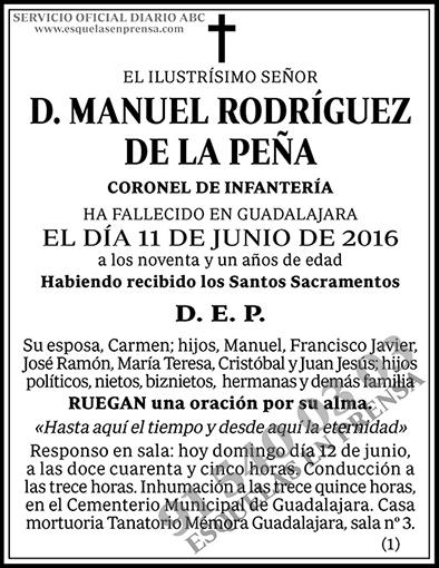 Manuel Rodríguez de la Peña